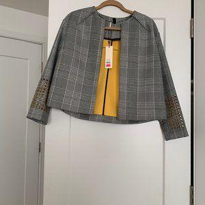 Black and White Checkered cropped blazer